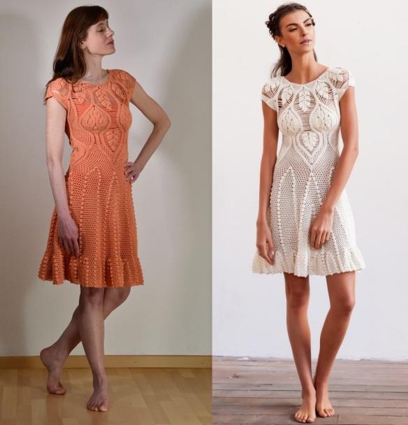 Crochet Wedding Dress Pattern.Designer Crochet Wedding Dress Pattern