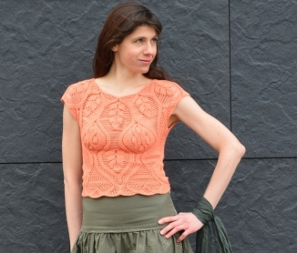 Crochet top pattern for sizes XS-S-M-L