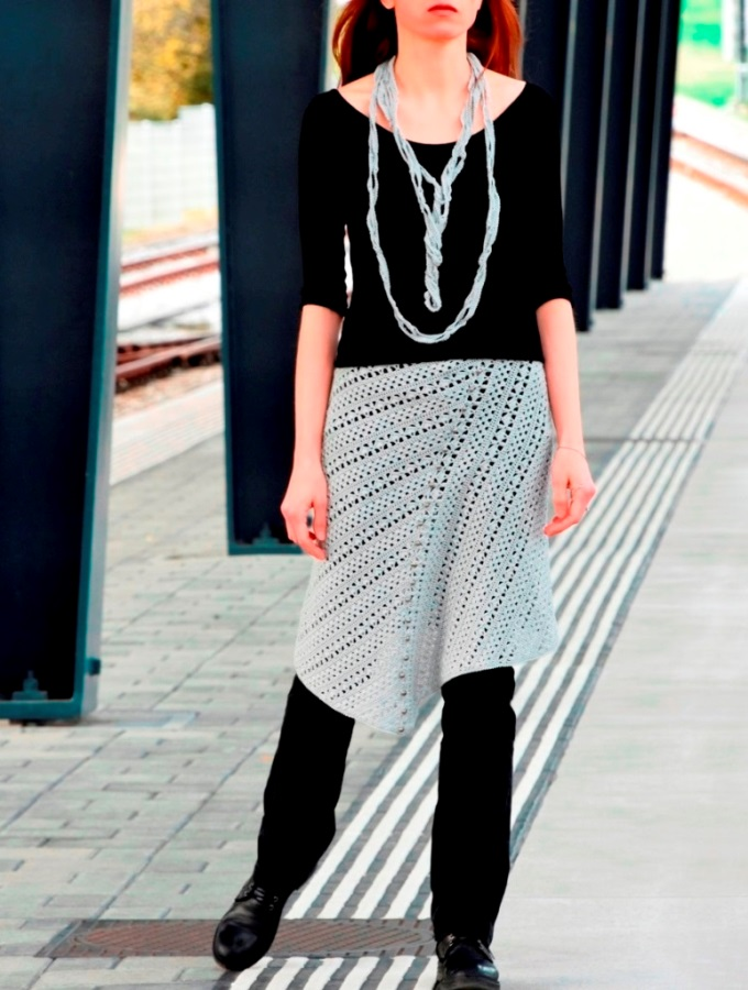 Asymmetric skirt – PATTERN