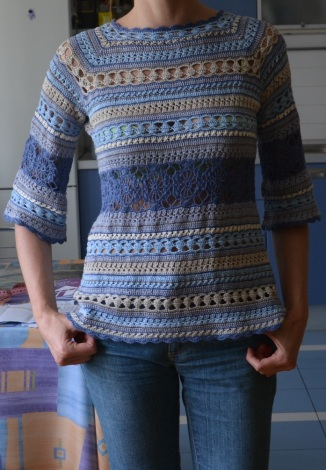 Looking for TESTERS: crochet tunic with Fingering-weight/4 ply yarn, sizes XS-4XL