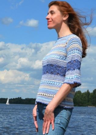 crochet sweater PATTERN for sizes XS-4XL