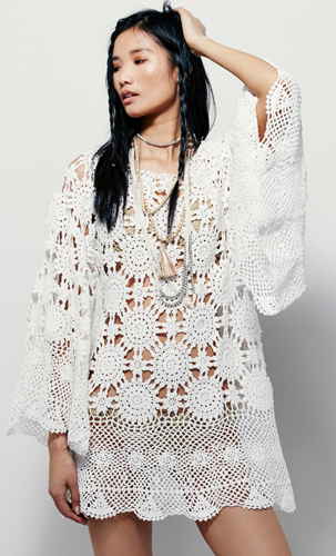 FREE crochet pattern for FREE PEOPLE boho dress