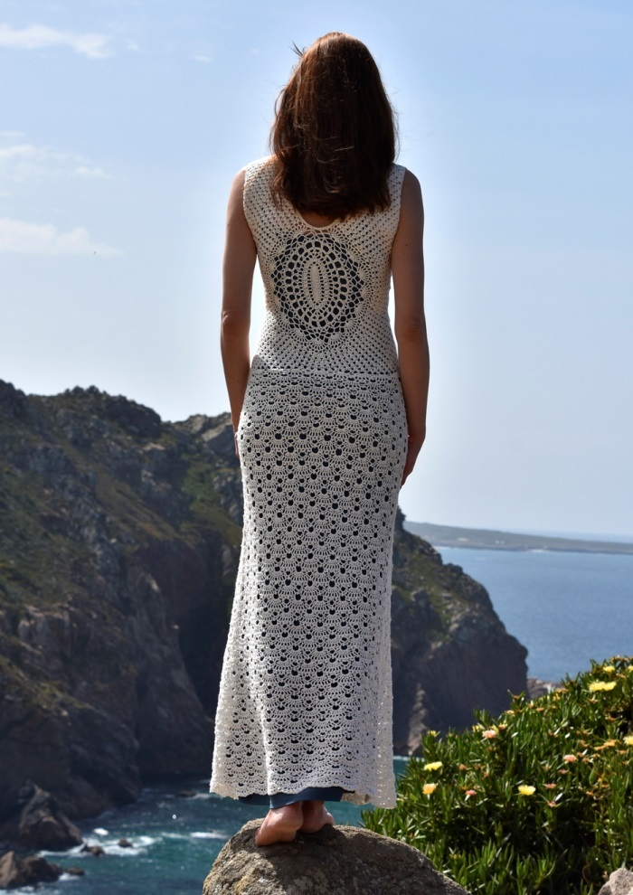 Beach wedding crochet dress – PATTERN