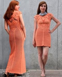 Maxi crochet dress PATTERN, crochet TUTORIAL in English for every row