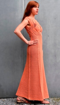 Maxi crochet dress PATTERN, crochet TUTORIAL in English for every row