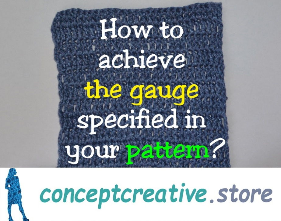 How to achieve the gauge specified in thepattern
