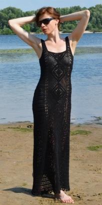Maxi crochet dress PATTERN for sizes XS-4XL