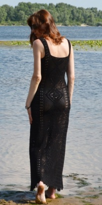 Maxi crochet dress PATTERN for sizes XS-4XL
