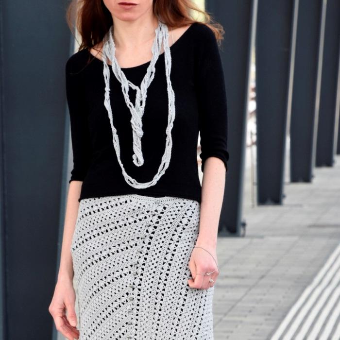 Crochet Necklace TRANSCENDENTAL – free crochetpattern
