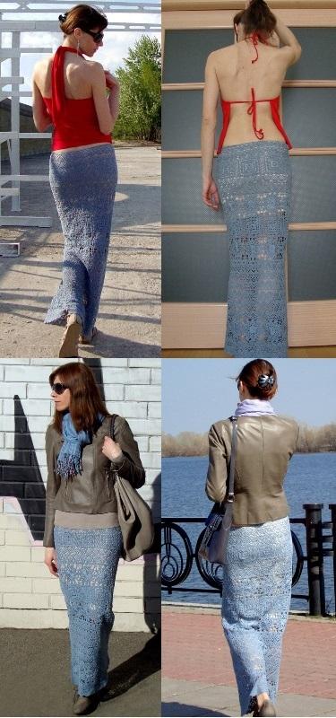Maxi crochet skirt PATTERN for sizes Xs-XL, crochet TUTORIAL in English