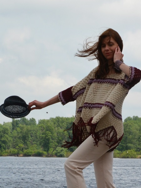 Oversized Poncho-Top :)