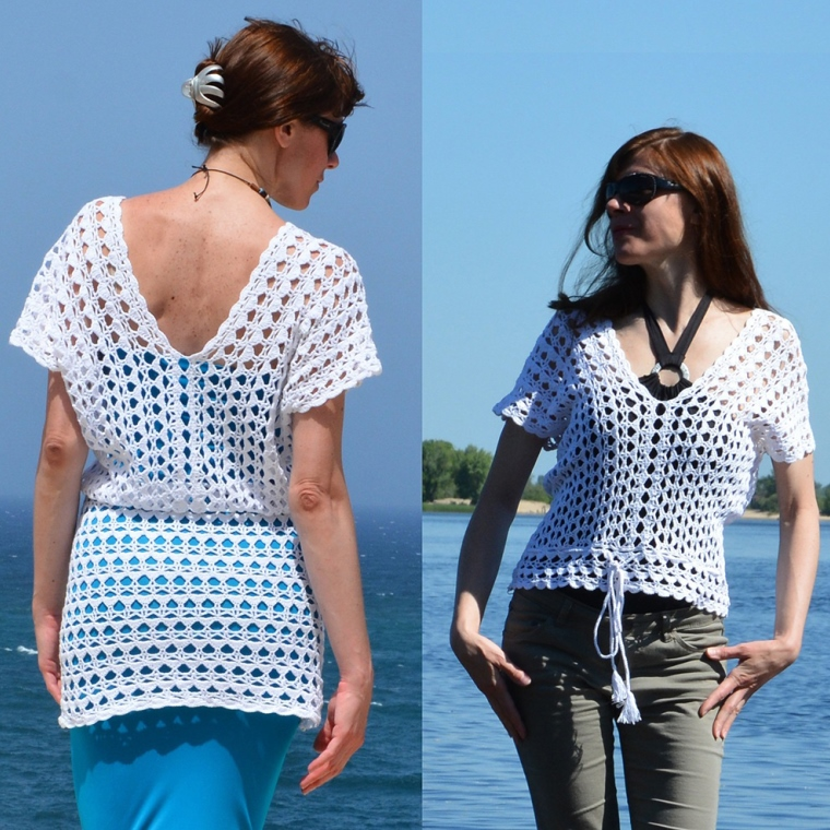 Beach crochet cover up – PATTERN