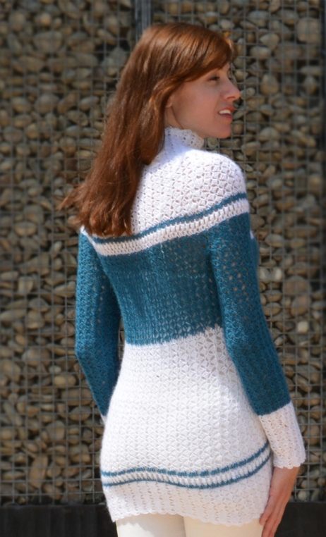 Mohair crochet sweater – PATTERN