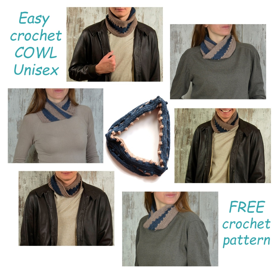 Easy crochet COWL Unisex – FREE crochetpattern