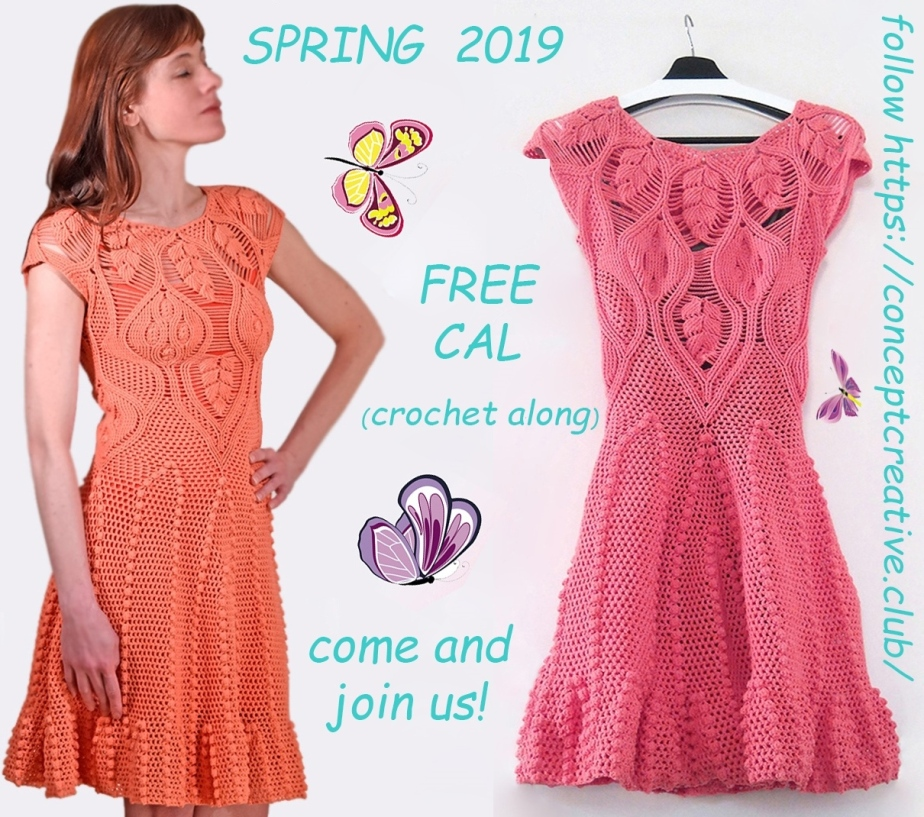 SPRING-CAL-2019: Crochet Top or Crochet Dress Pattern