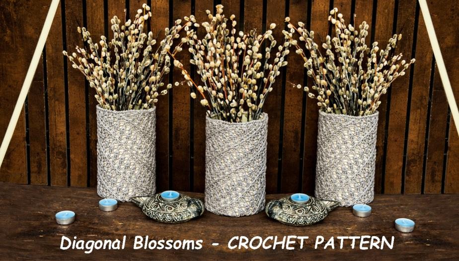 DIAGONAL BLOSSOMS: CrochetPattern
